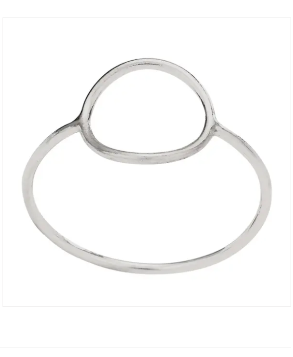 Open Circle Sterling Silver Ring