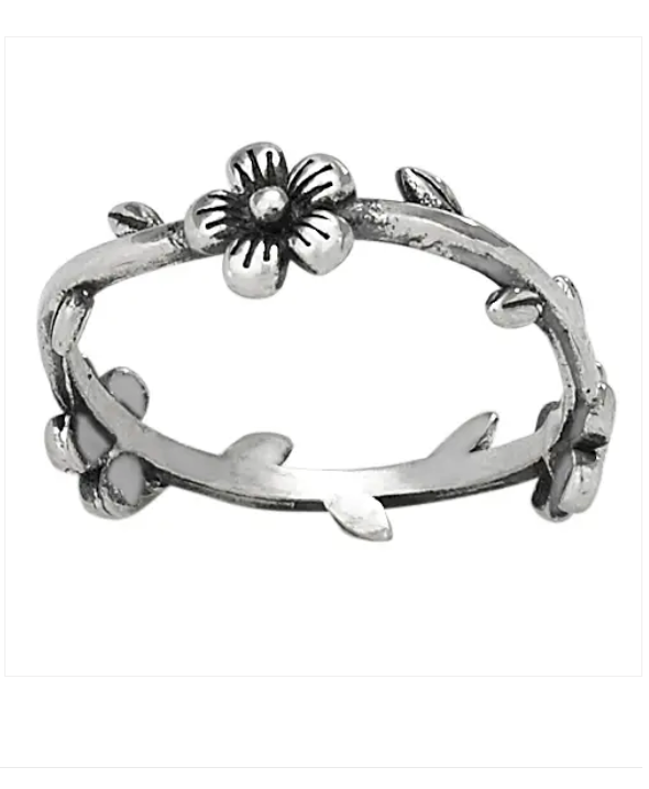 Flower Crown Sterling Silver Ring