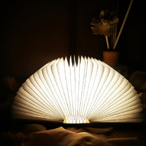 Foldable Wooden Book Lamp
