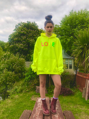 Neon Love Hoodies