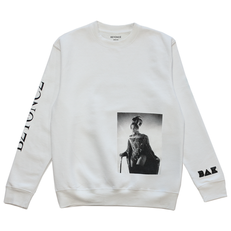 BΔK White Photo Pullover Crewneck