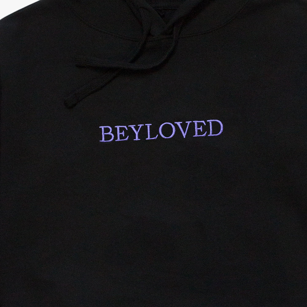 Beyloved Embroidered Crop Pullover Hoodie