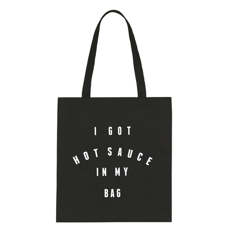 beyonce tote bag hot sauce black