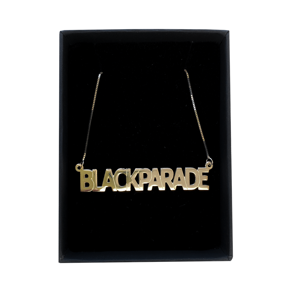 Black Parade Nameplate Necklace by Melanie Marie