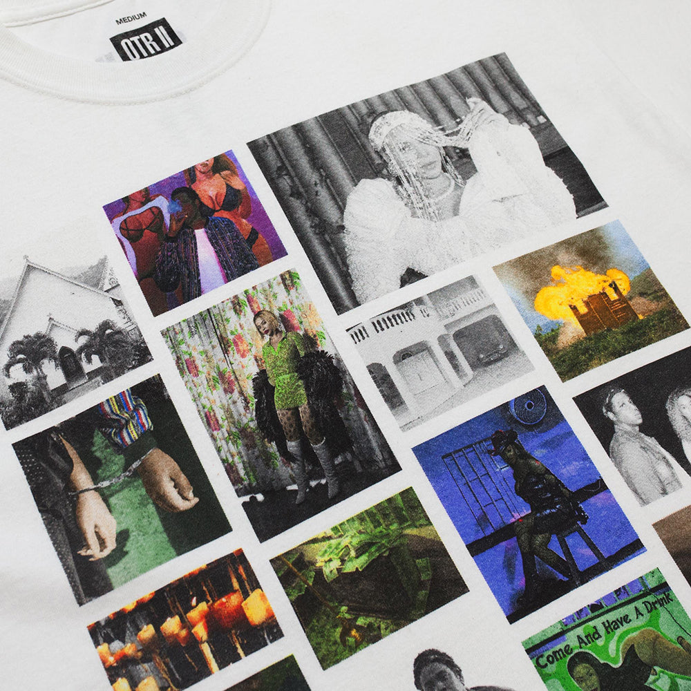 White Photo Collage Tee