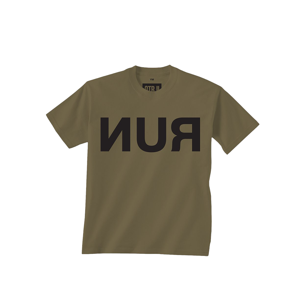 Run Military Green Youth Tee