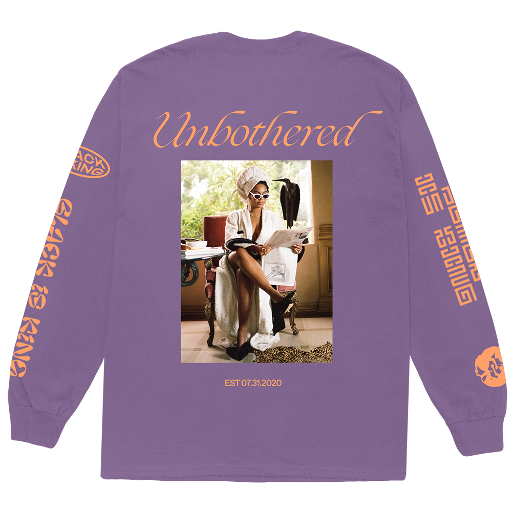 Unbothered Purple Long Sleeve Tee