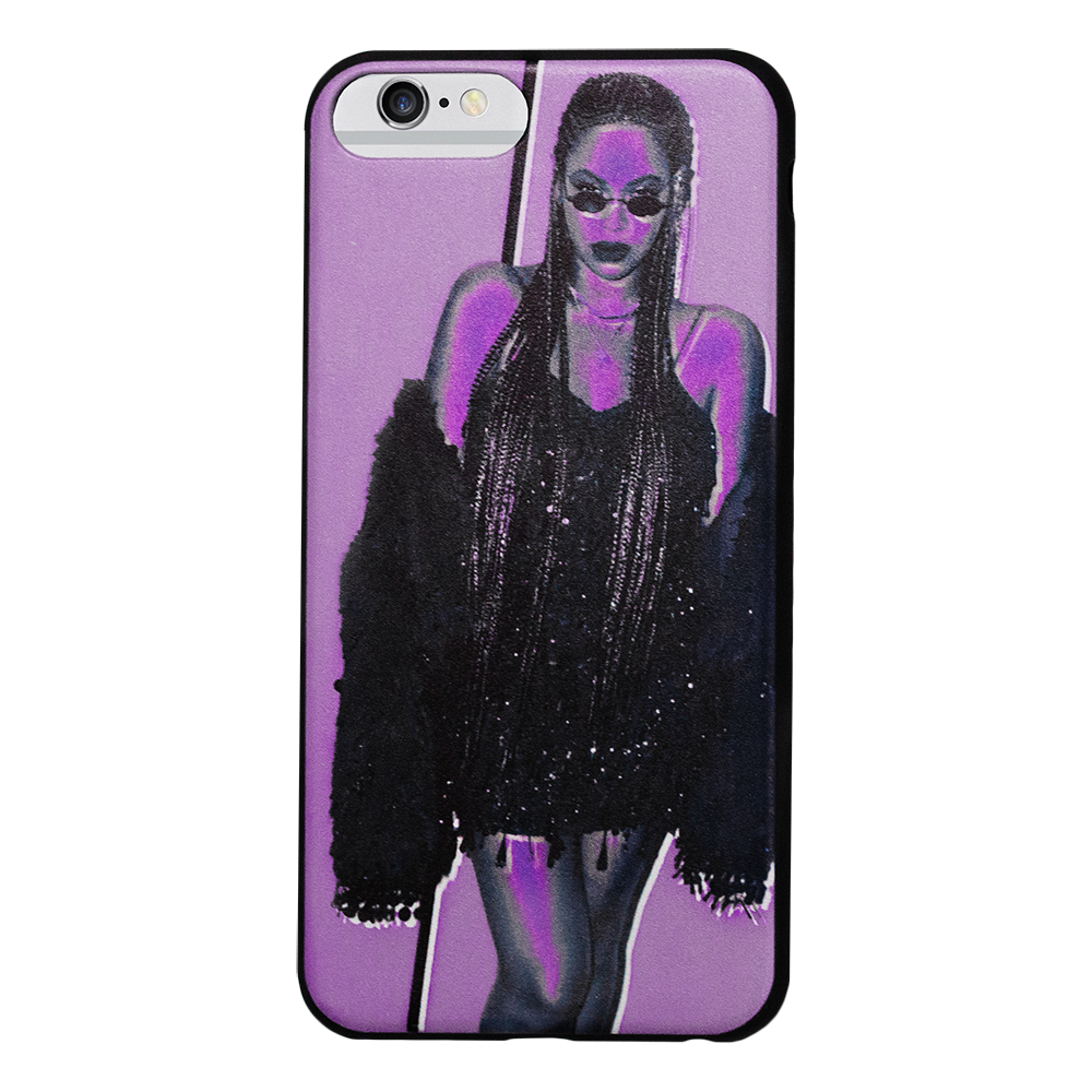 B Purple iPhone Case