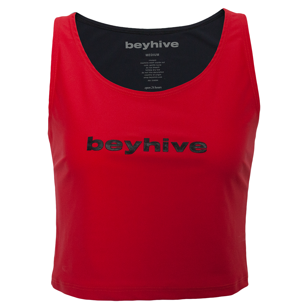 Beyhive Red Crop Top