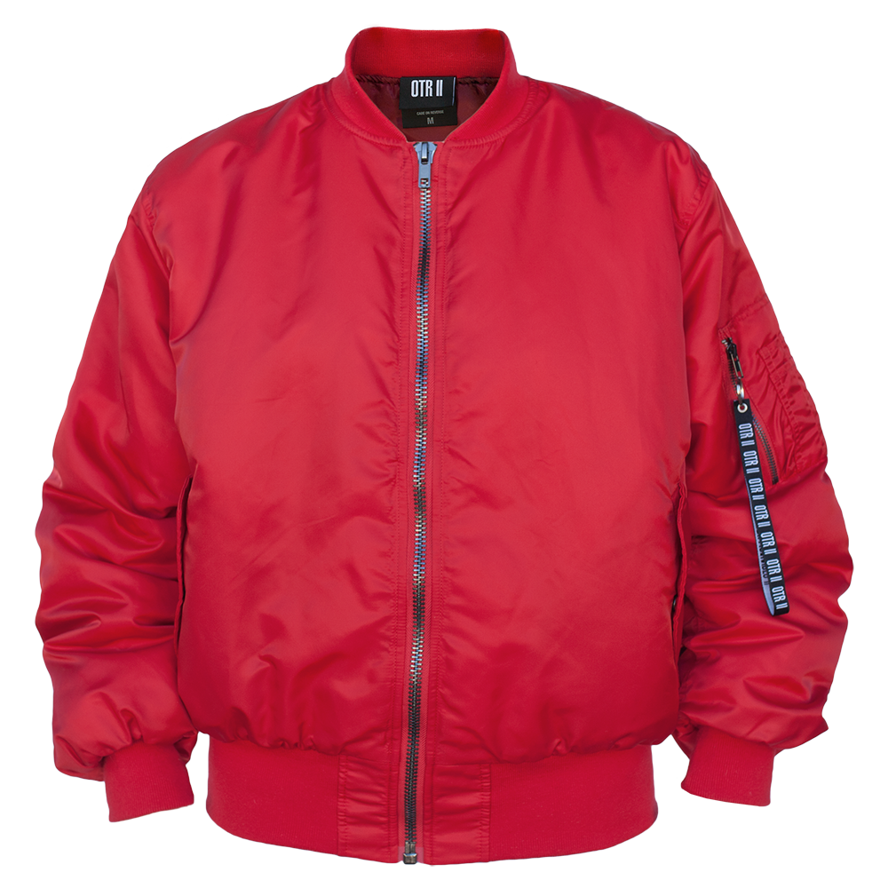 Fabulous Beyoncé Jacket: OTR II Red Bomber Jacket (Official Store) – Shop #CK76