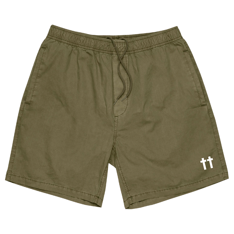 OTR II Double Cross Military Green Shorts