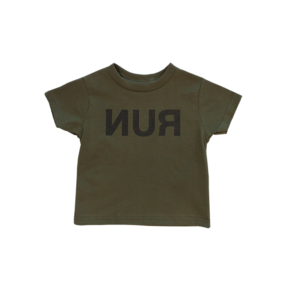 Run Military Green Toddler Tee