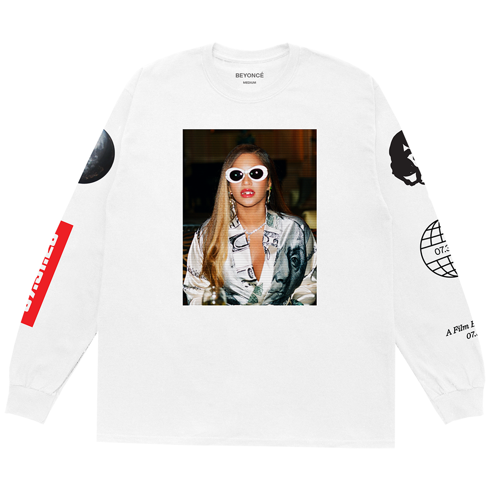 BIK Photo White Long Sleeve Tee