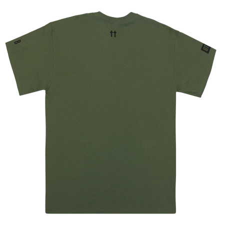 Pay Me In Equity Military Green Tee