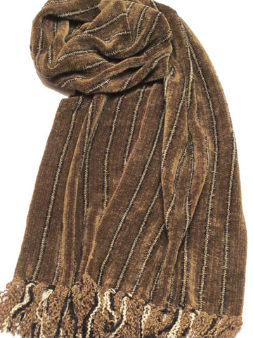 """TIMBER"" chenille scarf - WEB SPECIAL"
