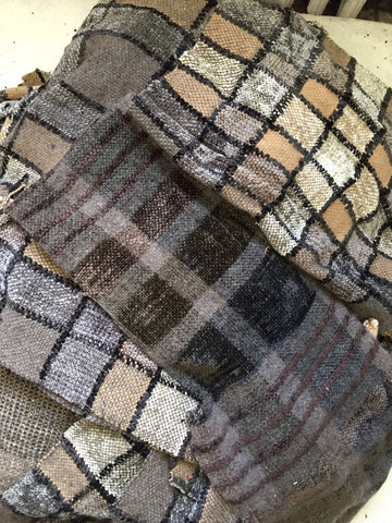 Hand woven Fabric Swatches in BEIGES