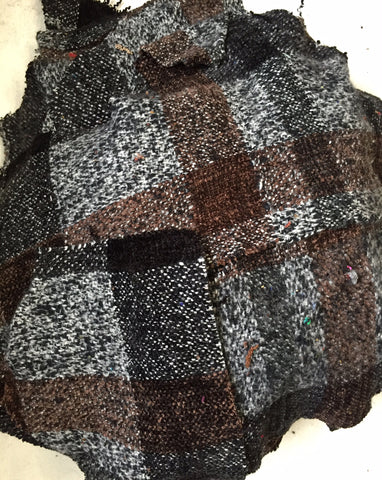 Hand woven Fabric Swatches in BLACK and SMOKE