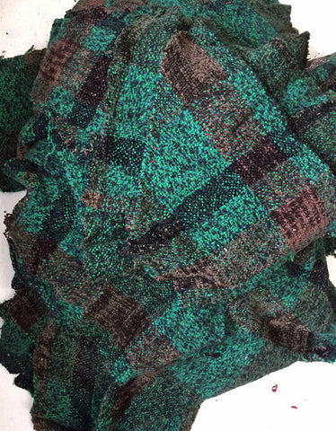 Hand Woven Swatches in shades of GREEN