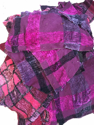 Hand woven SWATCHES in Pinks and Fuchsias