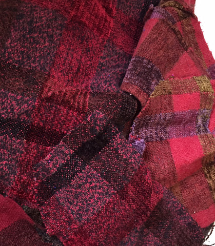 Hand woven Swatches in REDS