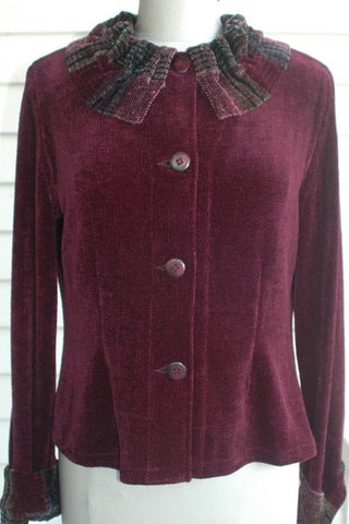 DAHLIA JACKET IN BLACKBERRY
