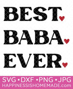 Best Baba Ever SVG