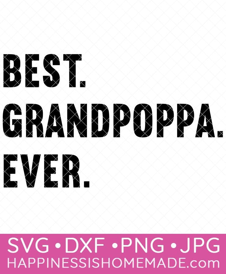 Best Grandpoppa Ever SVG