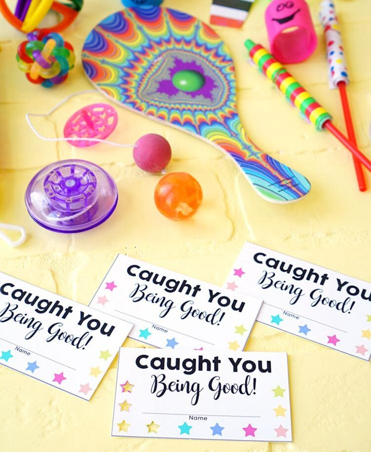 Caught You Being Good Punch Cards Printable