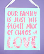 Family Chaos & Love Svg File