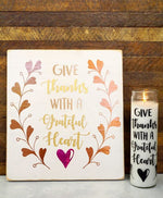 Give Thanks With A Grateful Heart Svg File