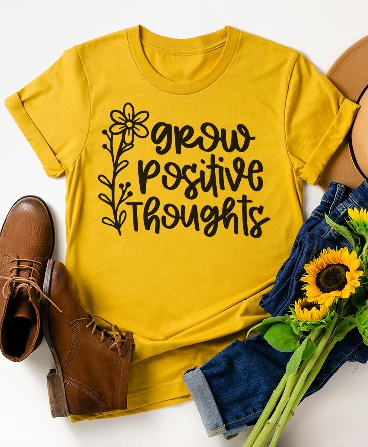 Grow Positive Thoughts SVG