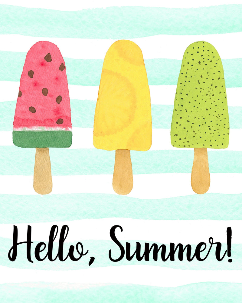 Hello Summer! Popsicle Print Printable