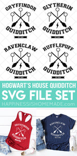 Hogwarts House Quidditch SVG Set SVG File