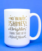 Kind Heart Gold Foil Mug Mugs