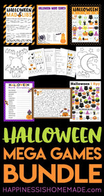 Mega Halloween Games & Activities Bundle Printable