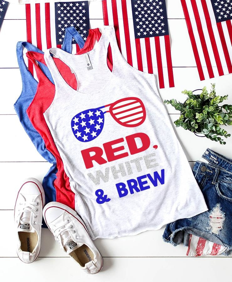 Red White & Brew Svg Svg File