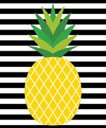 Striped Pineapple Print Printable