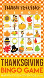 Thanksgiving Bingo Game Printable