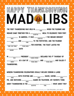 Thanksgiving Mad Libs Printable