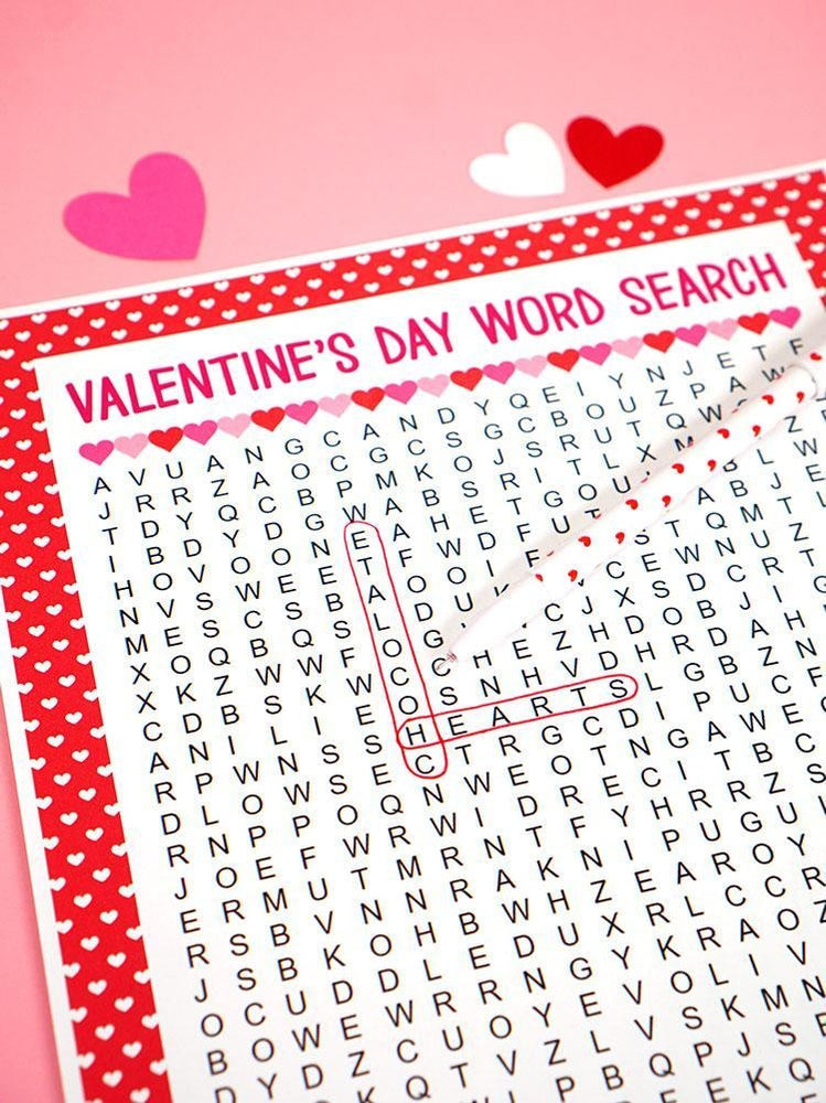 Valentines Day Word Search Games