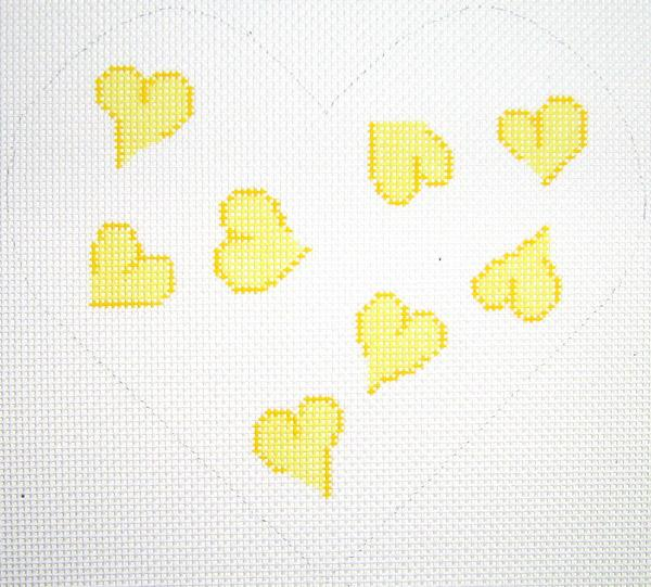 Yellow Heart Pillow