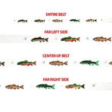 Trout on White Background Belt