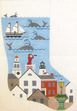 Nantucket Lady Christmas Stocking