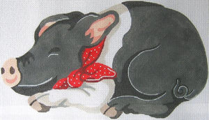 Black Pig Pillow