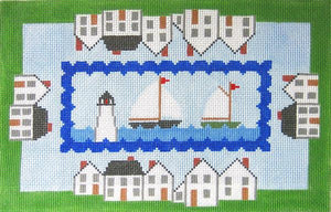 Harbor Scene Pillow