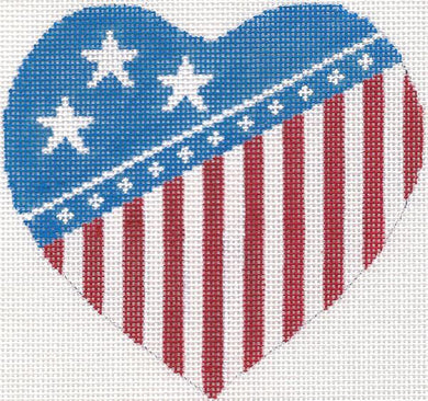 Flag Heart Ornament
