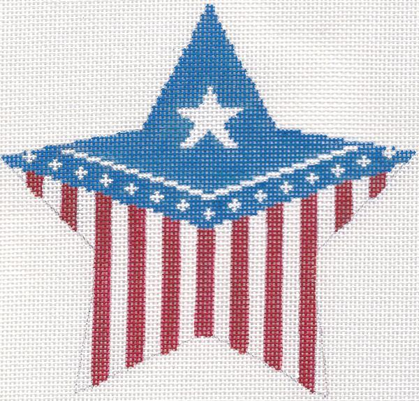 Flag Star Ornament