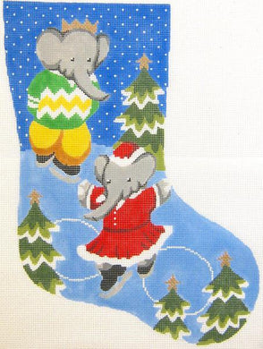 Babar and Celeste Christmas Stocking