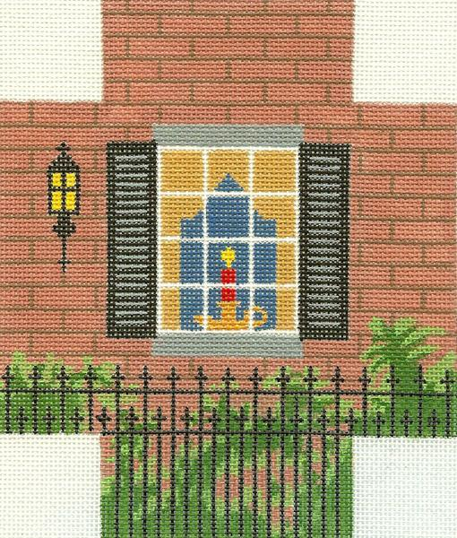 Brick Window Scene