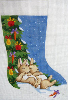 Napping Bunnies Christmas Stocking